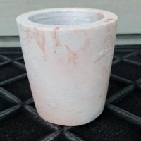 Cement Cacti Pot marbled pink and white 5.5cm