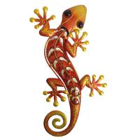 40cm Gecko glass art-orange